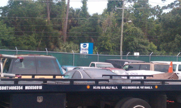 Universal Towing, secure yard. Call 386-255-0203 for more information.