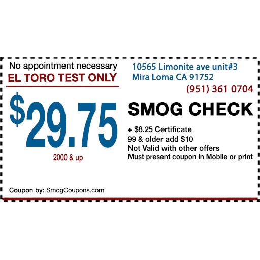 El Toro Test Only