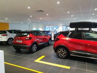 Inside the Renault Edinburgh West showroom