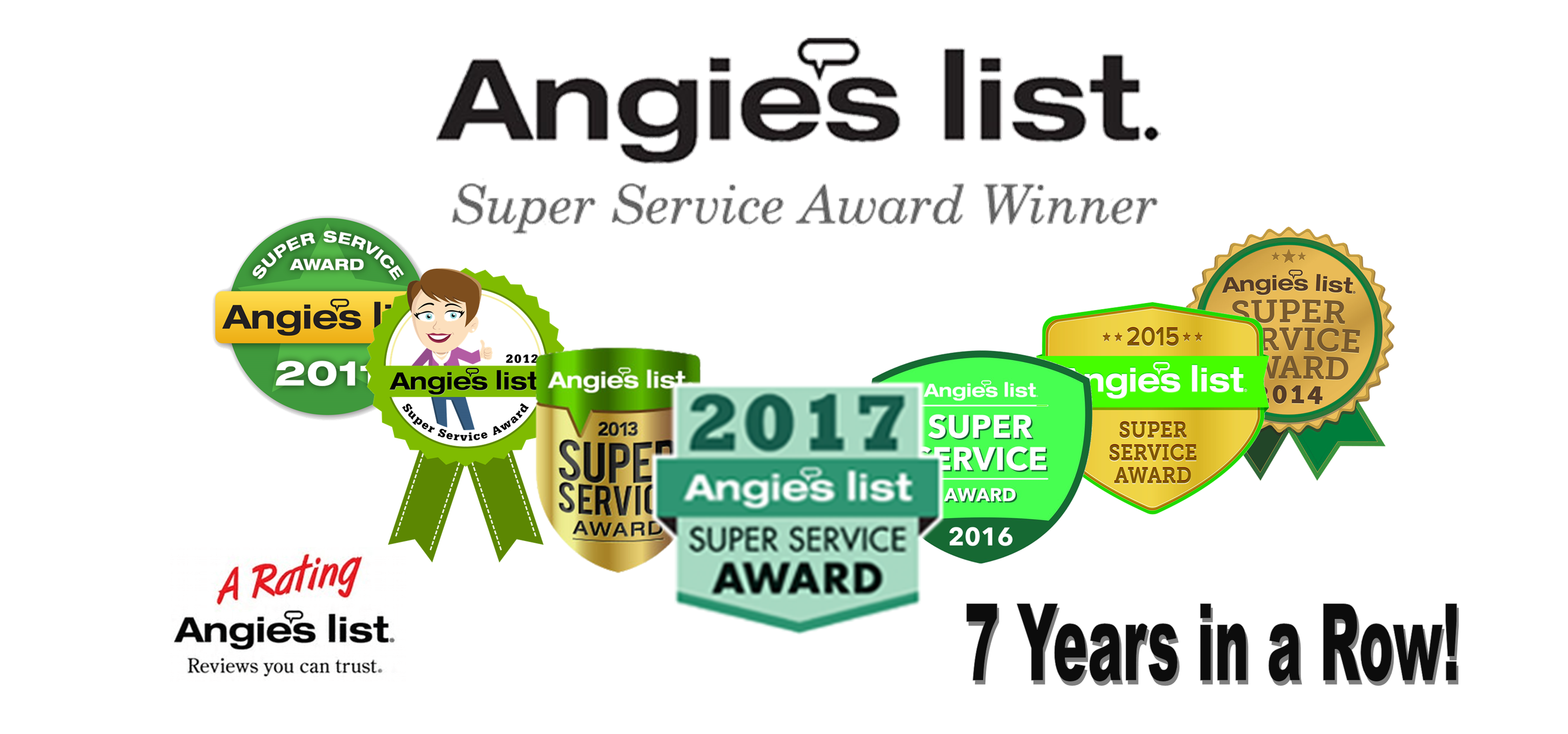 Angie's List Carpet Cleaning Super Service Awards