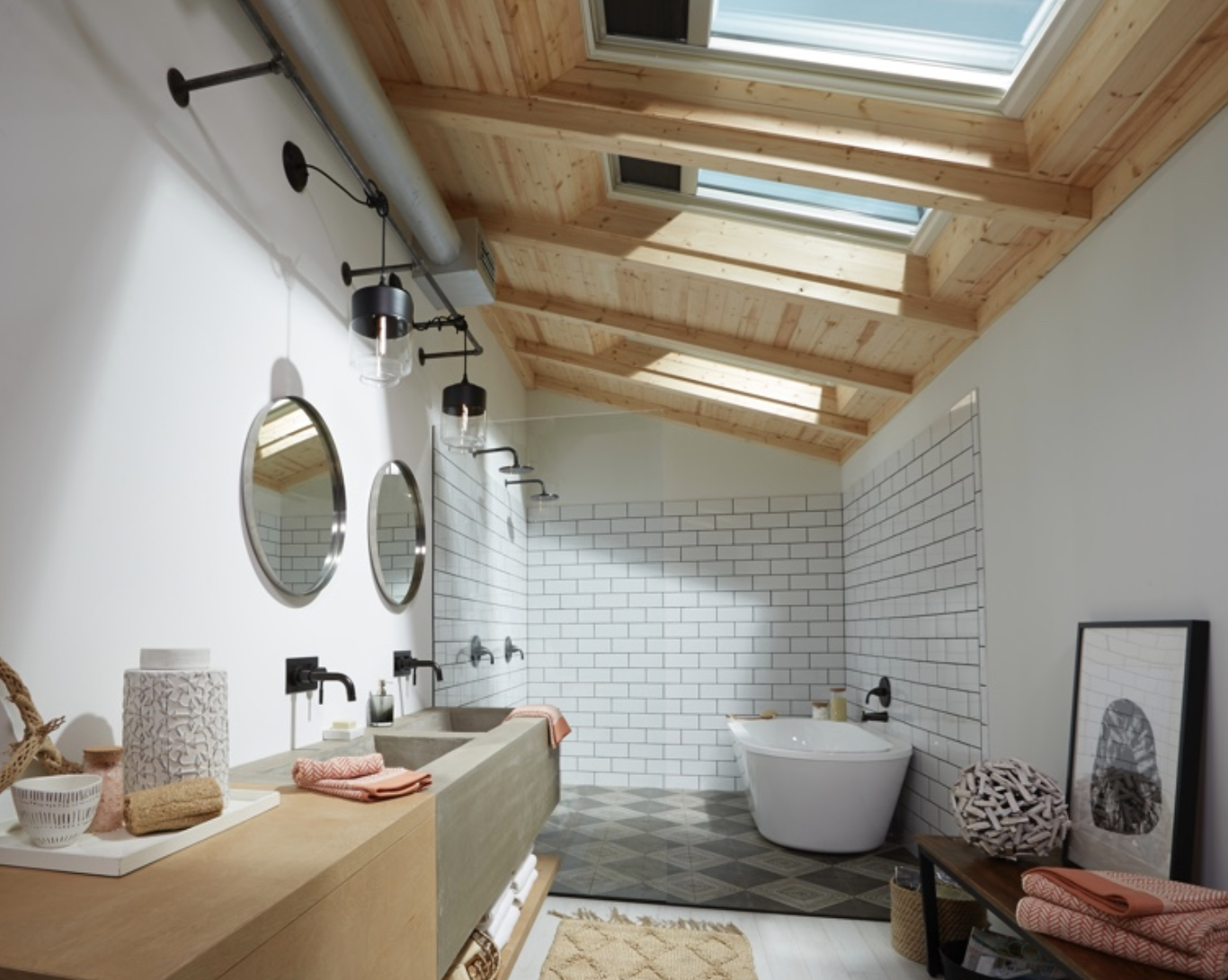 Fresh air skylights.