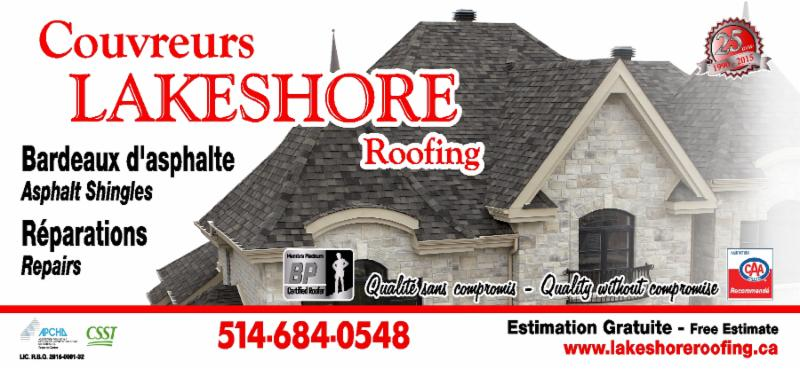 Couvreur Lakeshore Roofing à Dorval
