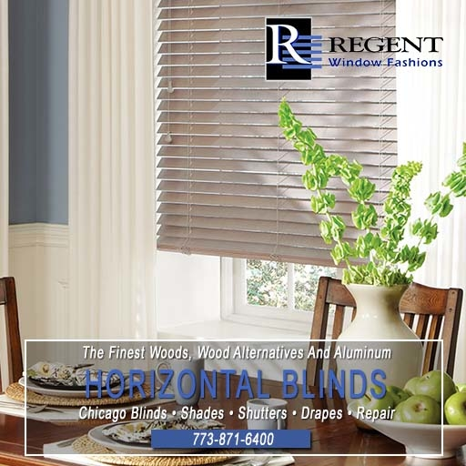 Horizontal blinds Chicago by Regent Window Fashions.