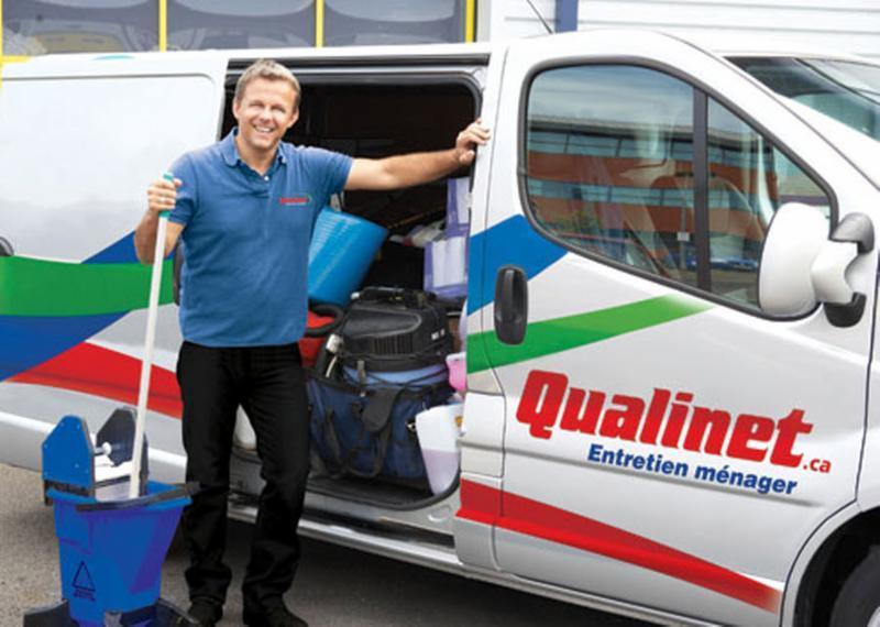 Qualinet à Anjou: Qualinet-Camion entretien menager