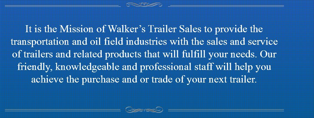 Walker's Trailer Sales