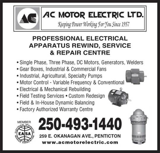 A C Motor Electric Ltd in Penticton