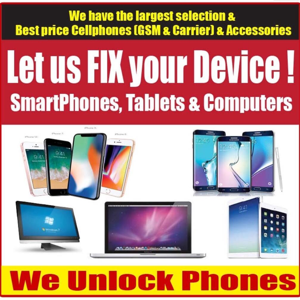 Cell Phone Unlocking & Repairing Service