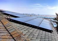Home Solar Installation Overlooking Mission Bay
