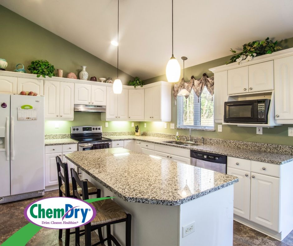 Granite countertop is the nice cherry on top of a beautiful kitchen. Let your granite countertops shine like new with Airport Chem-Dry's granite countertop renewal service in Coraopolis, Pa.