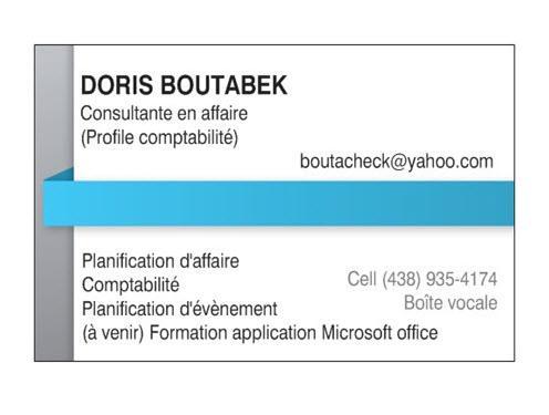 Doris Boutabek Comptable & Consultante