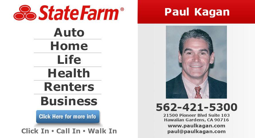 Paul Kagan State Farm Insurance Agent In Hawaiian Gardens Ca Whitepages