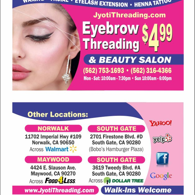 Jyoti Threading And Beauty Salon 3619 Tweedy Blvd Ste A South Gate