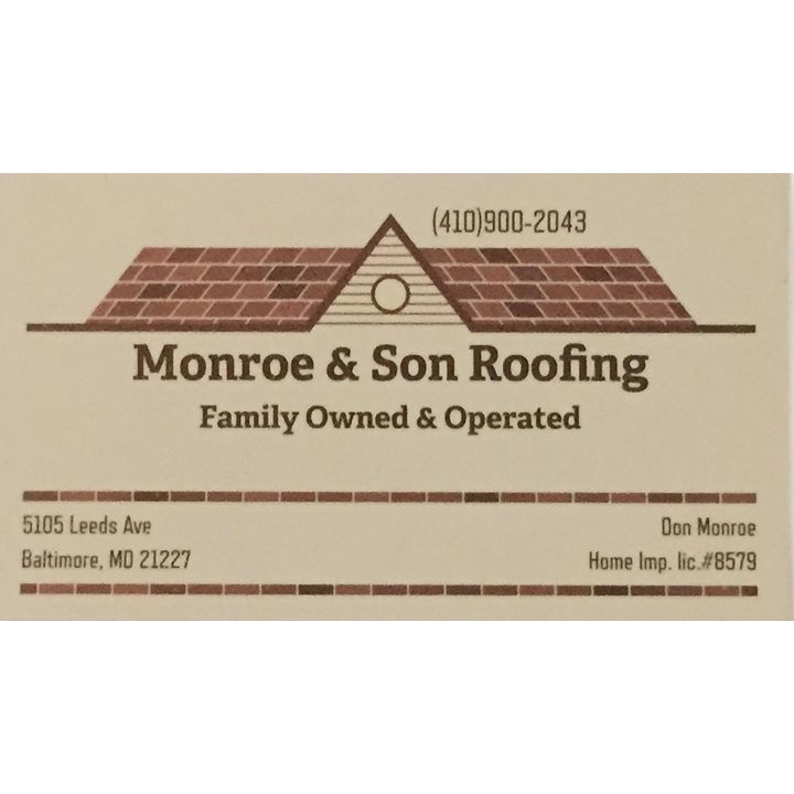Monroe Amp Son Roofing In Halethorpe Md On Fave
