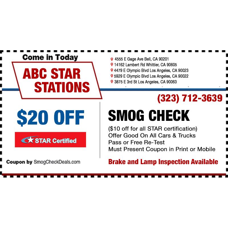 Dmv Smog Check >> ABC Smog Check STAR Station in Bell, CA 90201 | Citysearch