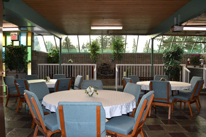 Maple Ridge Funeral Chapel & Crematorium in Maple Ridge: Maple Ridge Funeral - Reception Patio