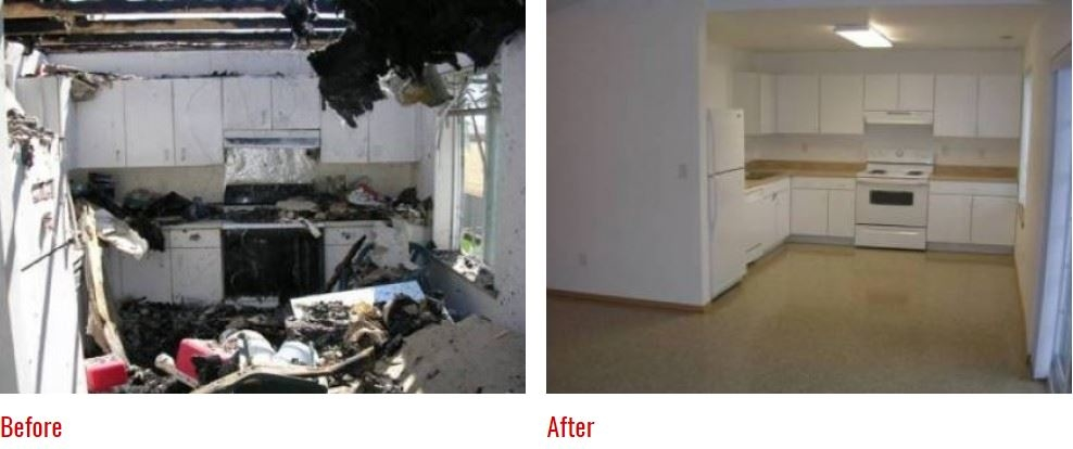 Before and After Photos: Fire damage