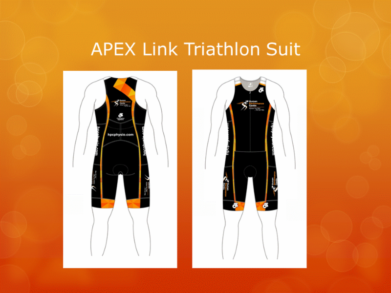 Human Performance Centre in Saint John: Are you in need of some HPC active wear? We can help! Here is our APEX Link Triathlon Suit.