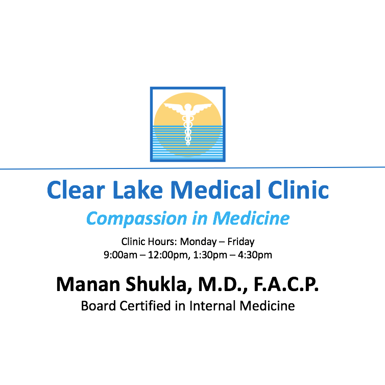 Clear Lake Medical Clinic, Manan Shukla, M.D.