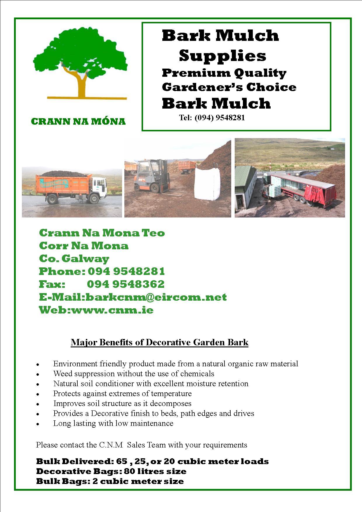 CNM - Crann Na Móna Teo, Garden Centres, Galway