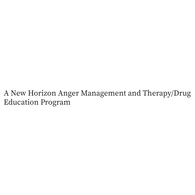 A New Horizon Anger Management and Therapy/Drug Education Program