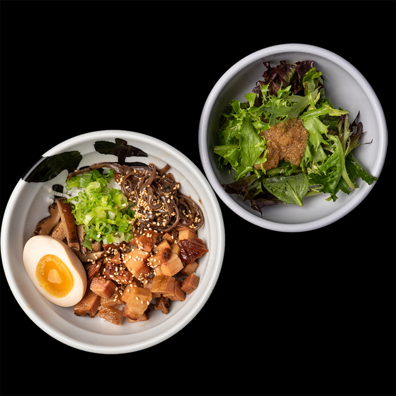 Click to expand image of Pork Chashu Bowl* & Salad