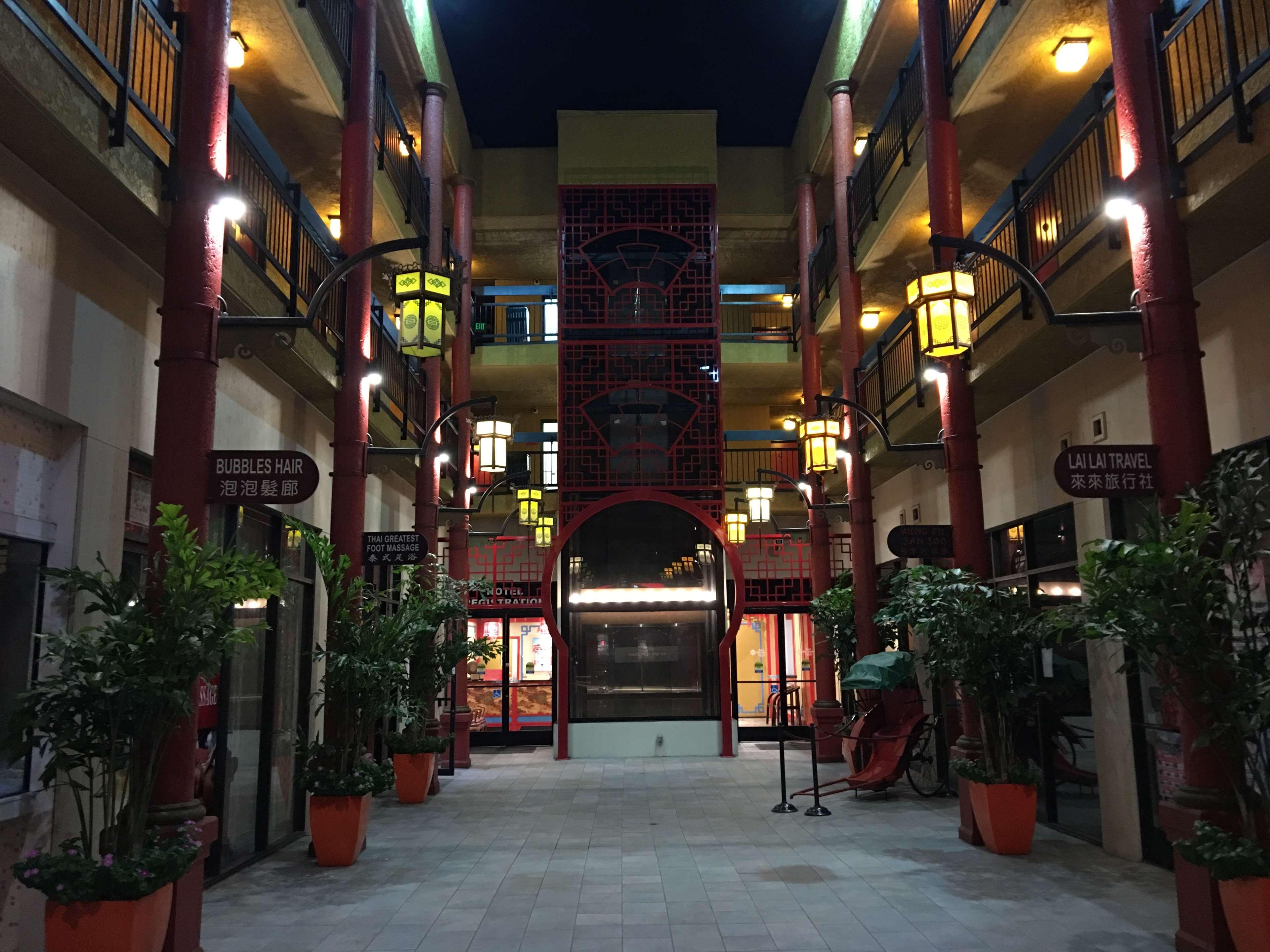 Hotel Exterior Atrium