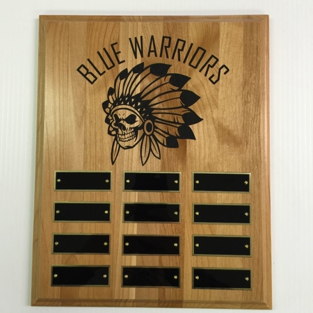 Just finished up this custom perpetual plaque for Pepsi Company. It is Alder Wood laser engraved and paint filled.