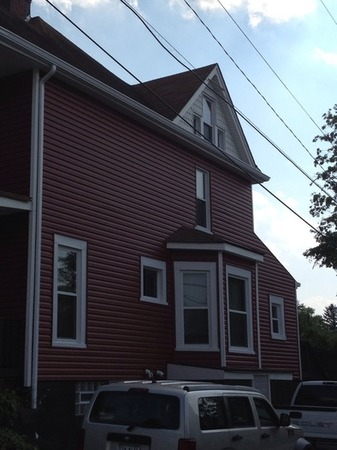 New siding and gutters on a home in Pittsburgh.