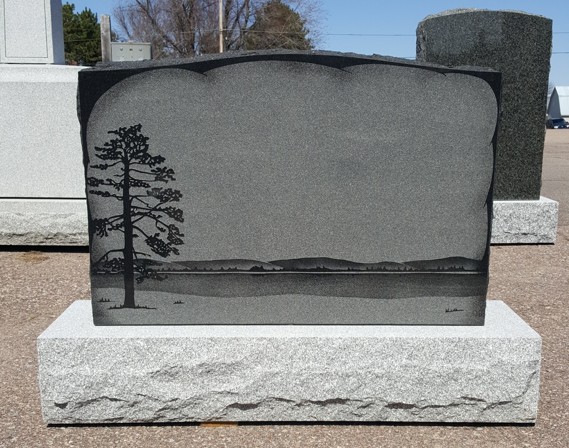 Campbell Monument in Pembroke: This is one of a few monuments from our display.  Let us help you personalize it.