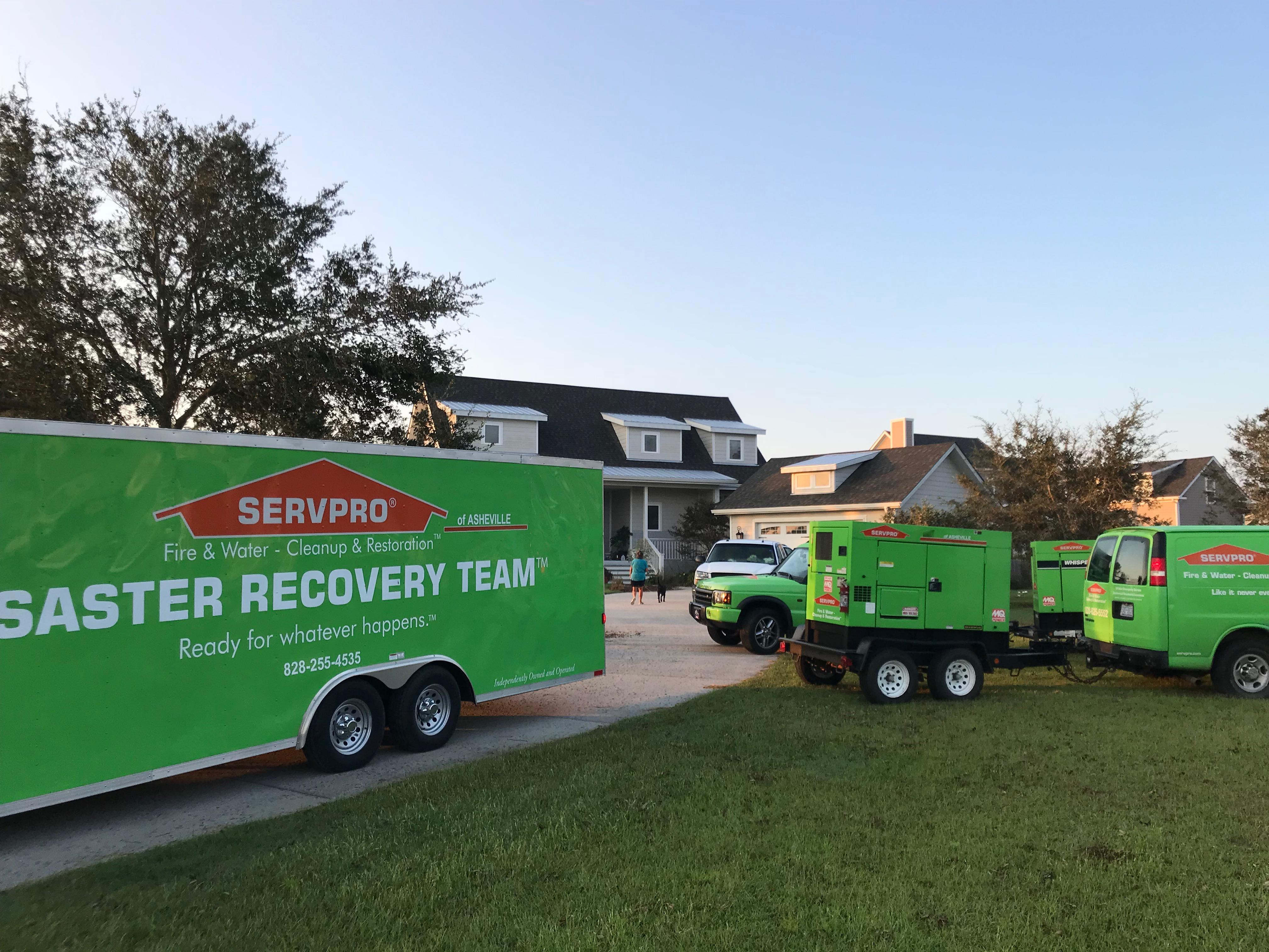 SERVPRO of Asheville East is Faster to any size disaster!