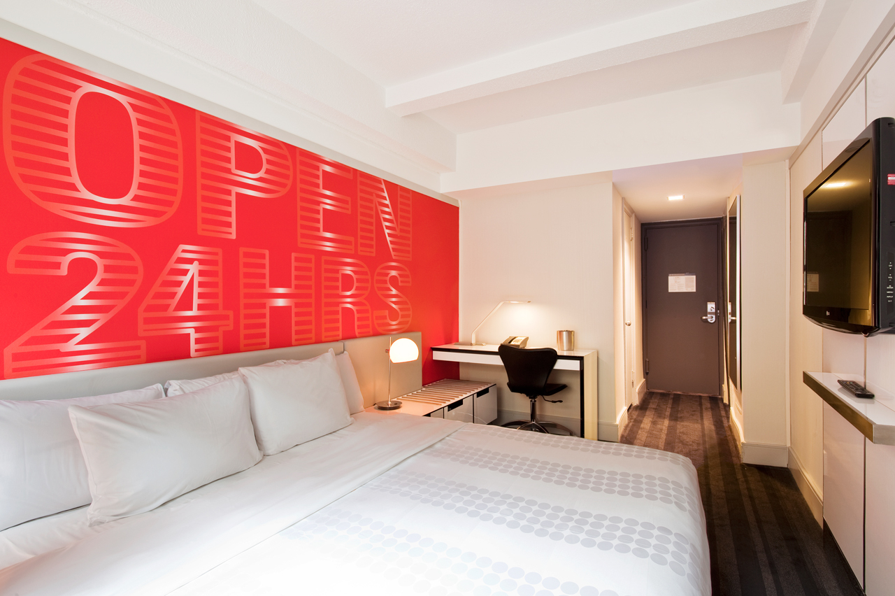 """View our New York hotel specials! At Row we believe in providing the best Times Square hotel deals in NYC to ensure that your stay is convenient, valuable, & contemporary. View our New York hotel specials! let Row NYC provide you with a discount to help you fill up a signature """"Big Brown Bag.""""."""
