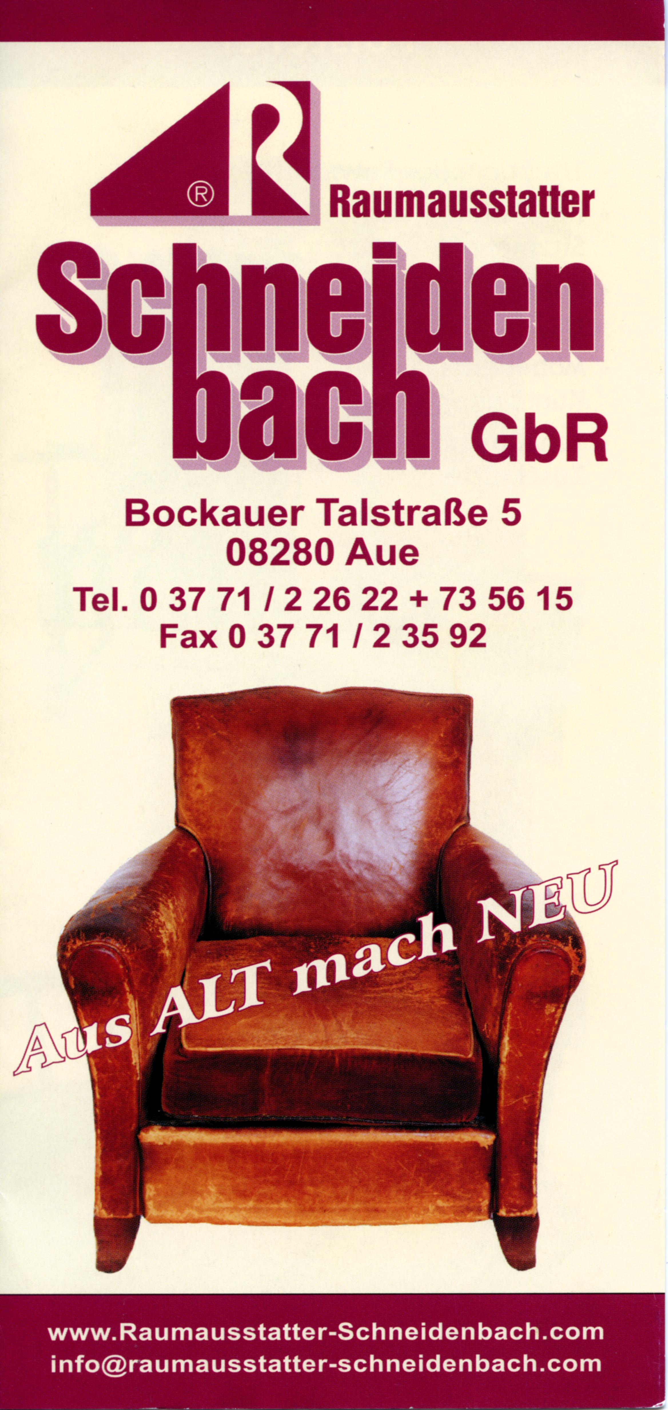 Raumausstatter schneidenbach gbr aue 08280 yellowmap for Raumausstatter was ist das