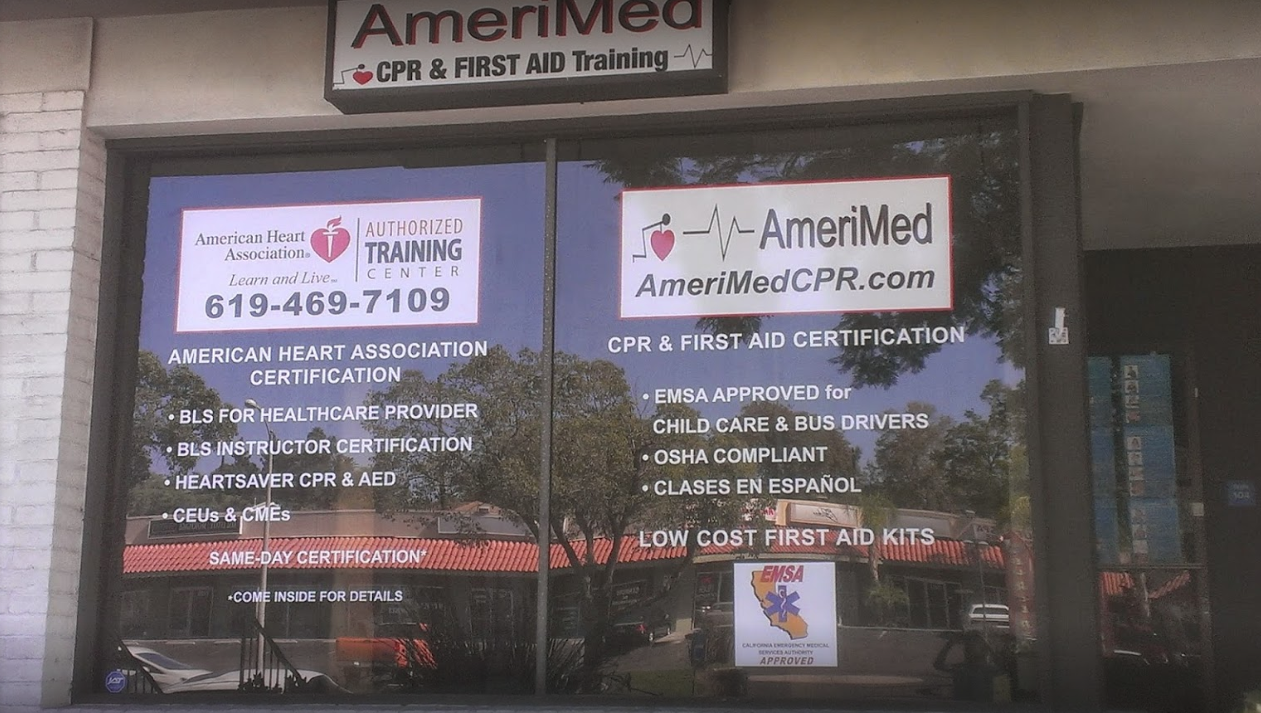 Amerimed Cpr Training 7435 University Ave 104 La Mesa Ca Vocational