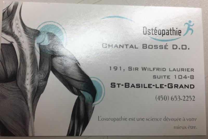 Ostéopathie Chantal Bossé D.O.