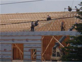 Ontario truss wall foxboro on ourbis for Pre manufactured roof trusses