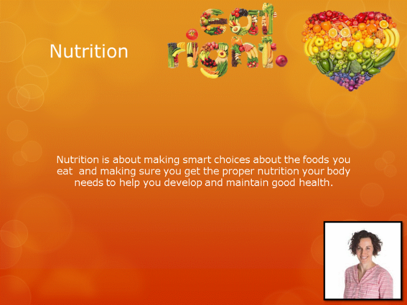 Human Performance Centre in Saint John: Nutrition is about making smart choices about the foods you eat and making sure you get the proper nutrition your body needs to help you develop and maintain good health.