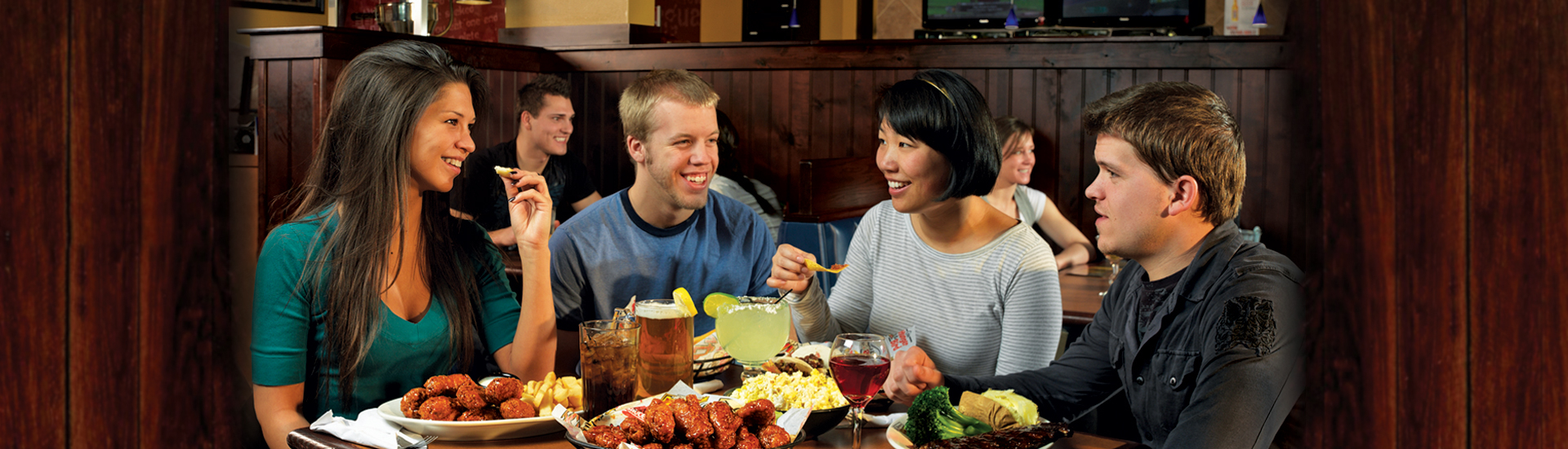 Have delicious food & fun when you go to your local WINGERS!