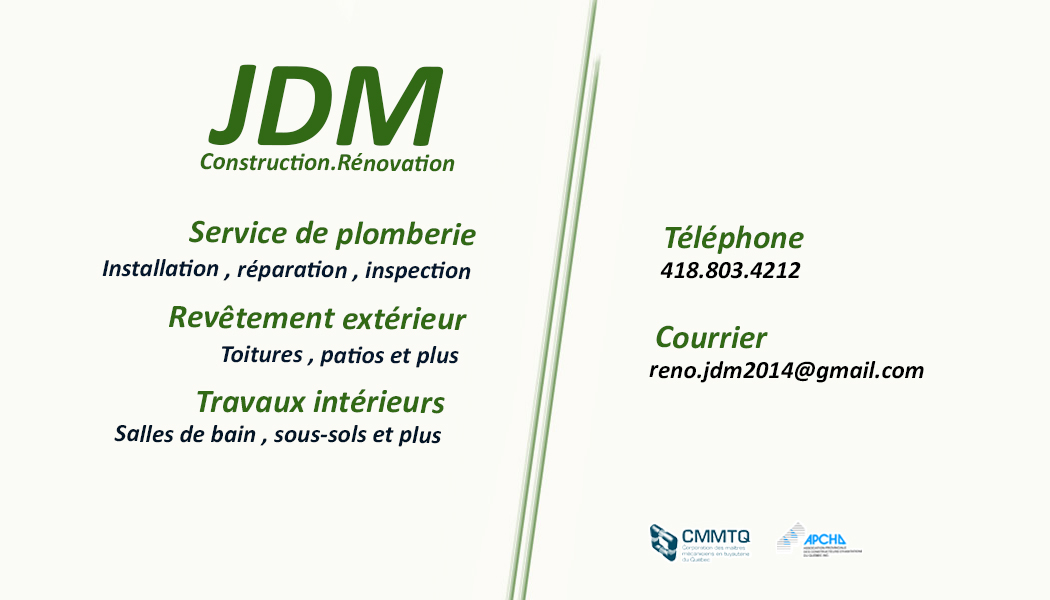 Construction Rénovation JDM & Plomberie JDM Inc