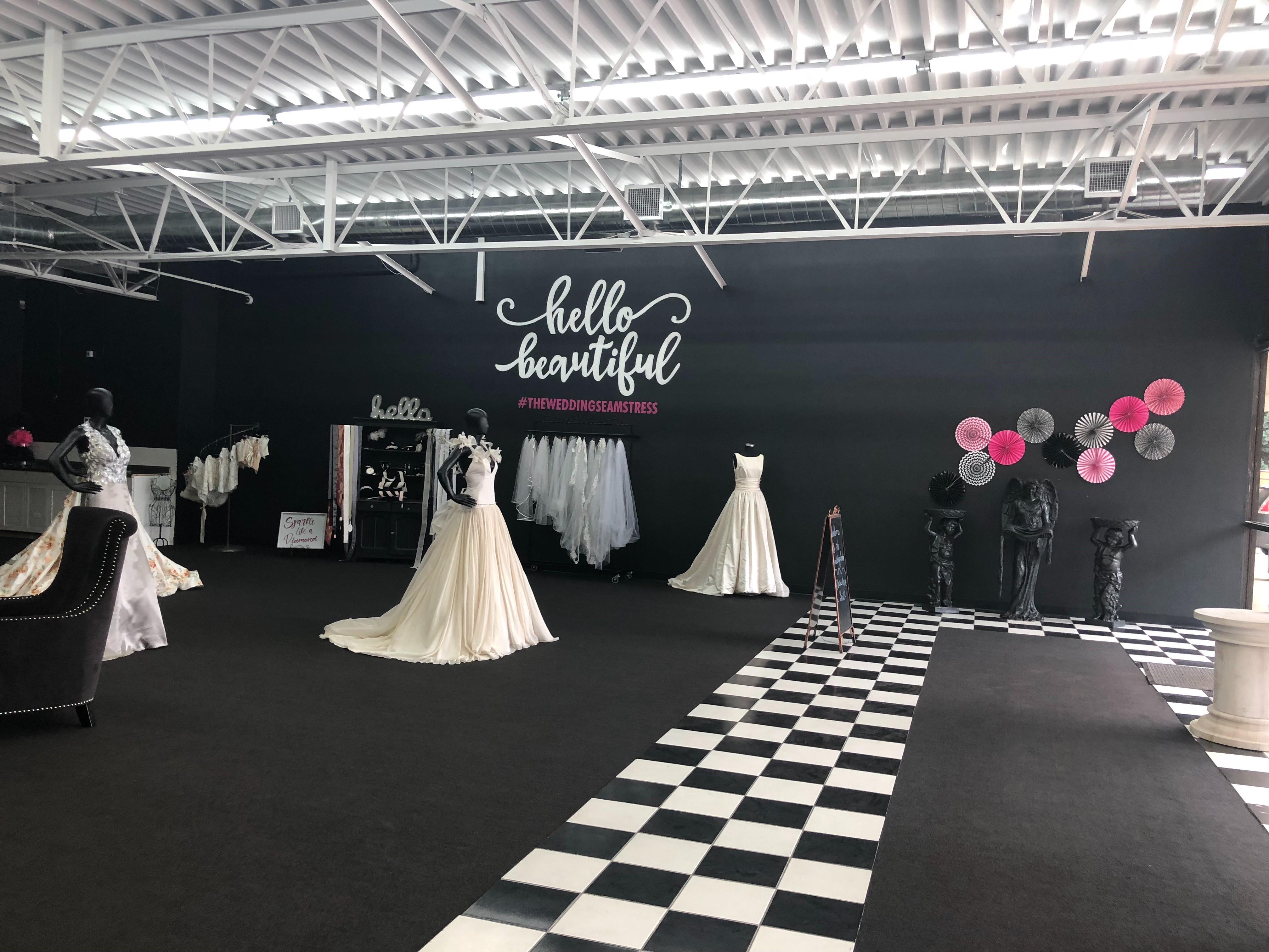Our beautiful showroom! The Wedding Seamstress Arvada (720)435-1004