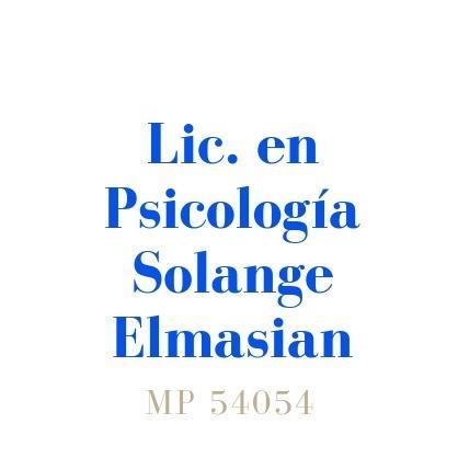 Lic. en Psicología Solange Elmasian - Mp 54054