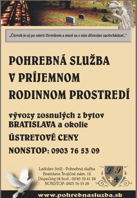 Ladislav Stríž - Pohrebná služba