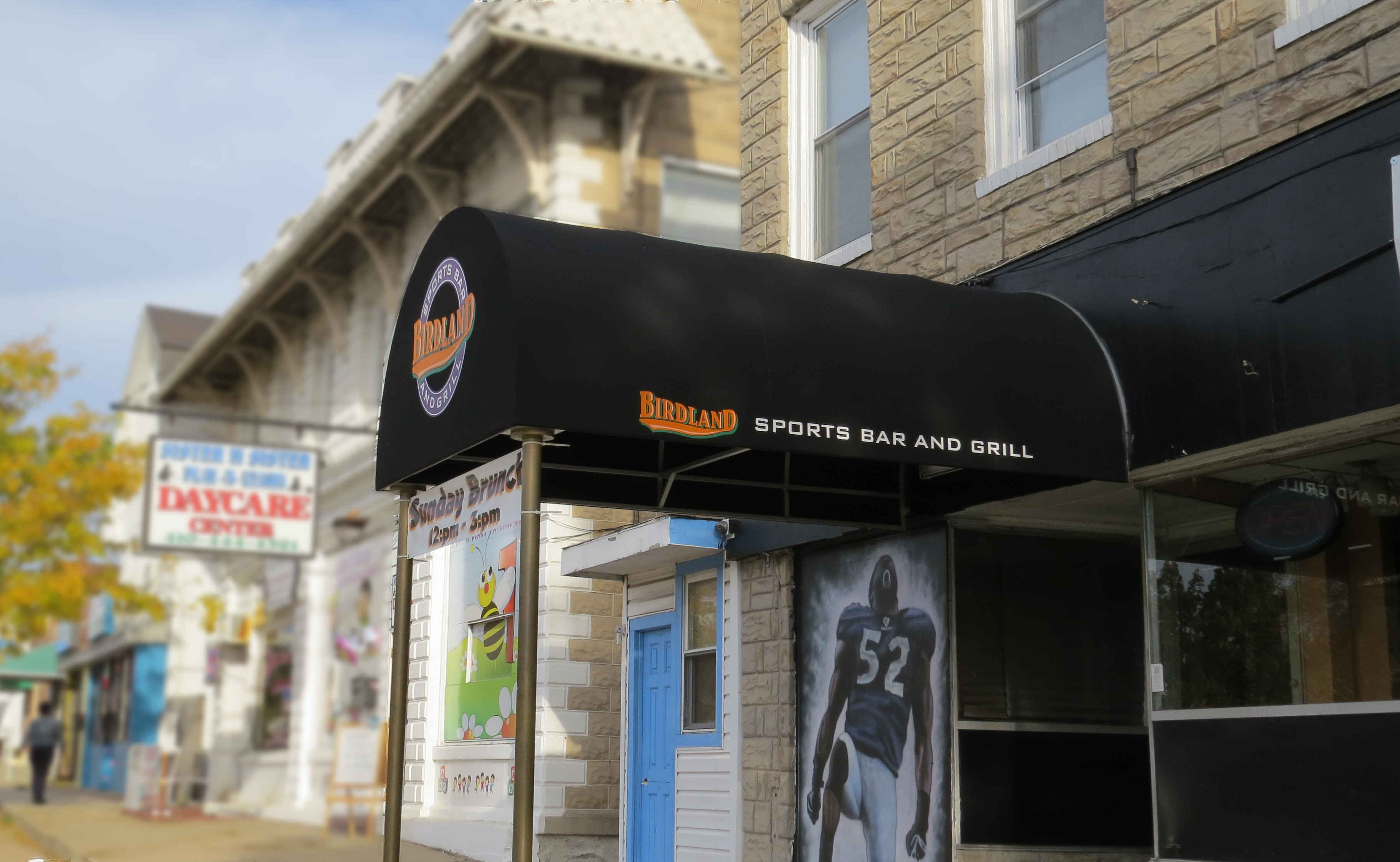 Call A  Hoffman Awning in Baltimore     410-685-5687 Sports Bar Awning in Baltimore