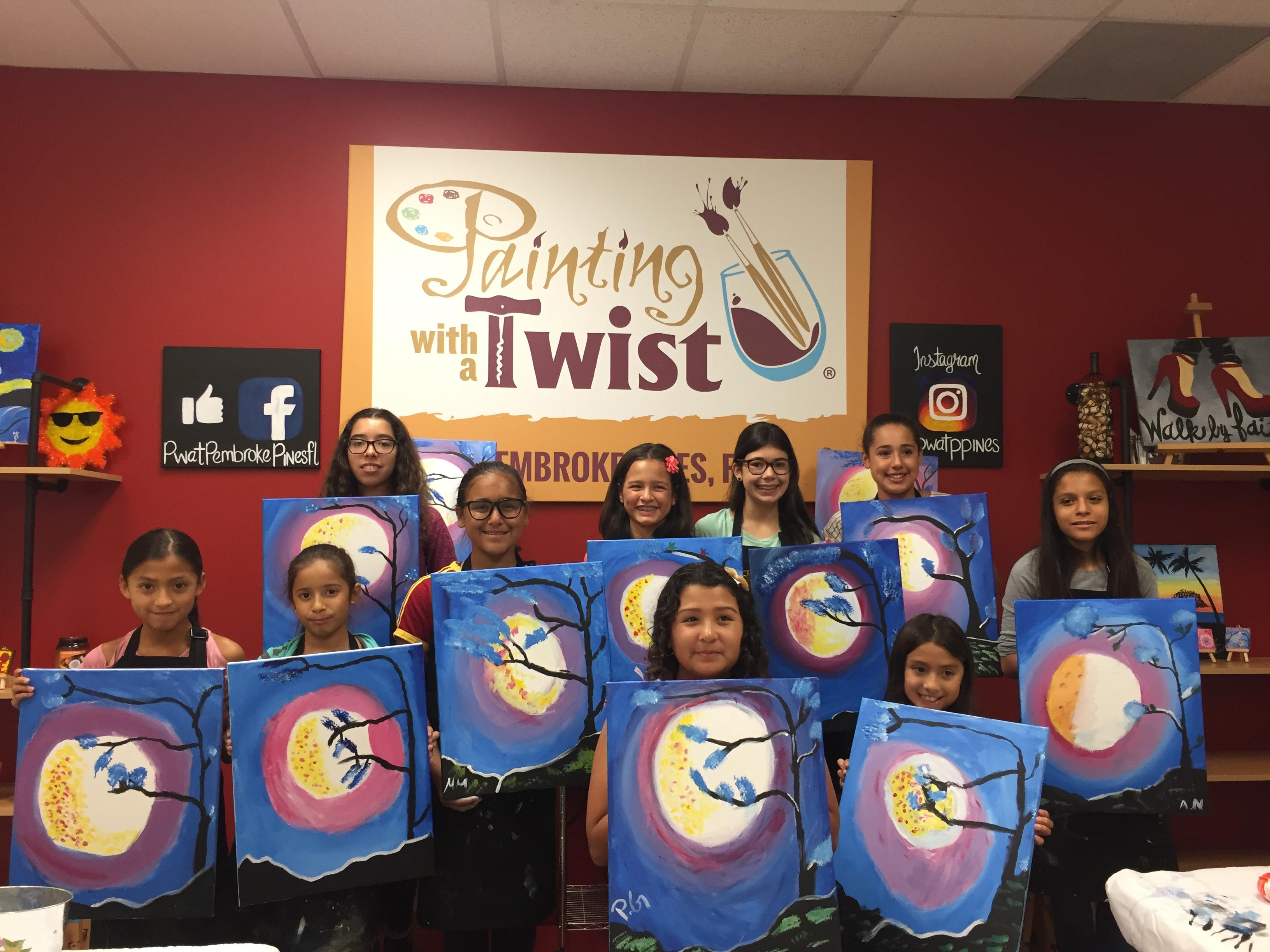 painting with a twist in pembroke pines fl 33028