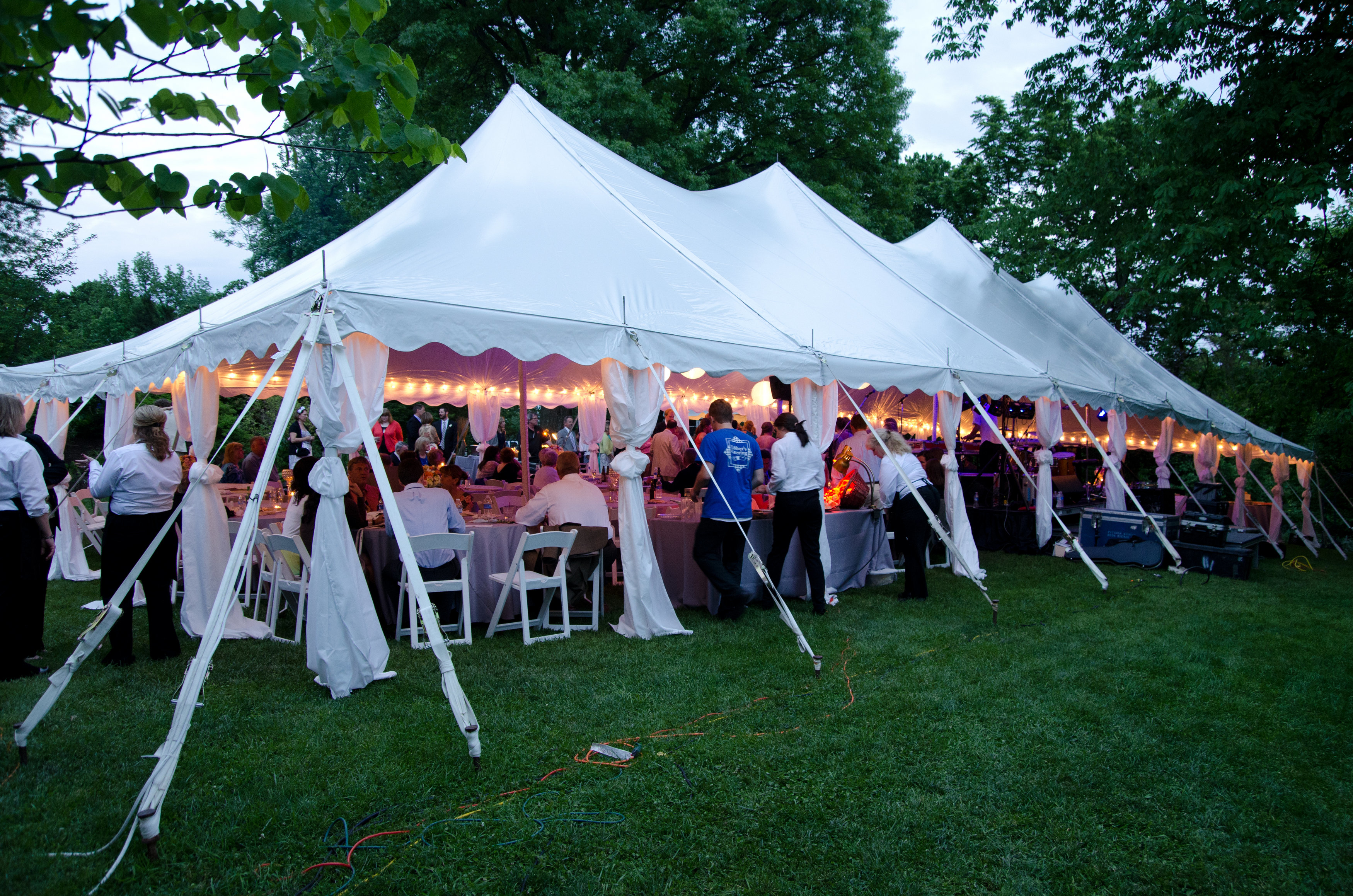Wedding Tent With Large Stage Bar Tent Leg Drapes