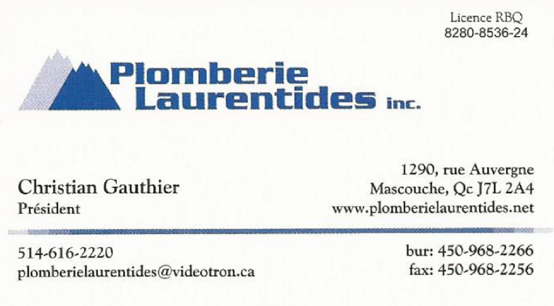Plomberie Laurentides Inc à Mascouche