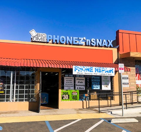 Big Time Phone Repair 'n Snax provides fast, inexpensive, and high quality repairs! Visit our location in Lemon Grove and experience fast turnaround times, affordable repairs and fantastic customer service!