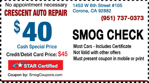 Smog check coupon redwood city ca