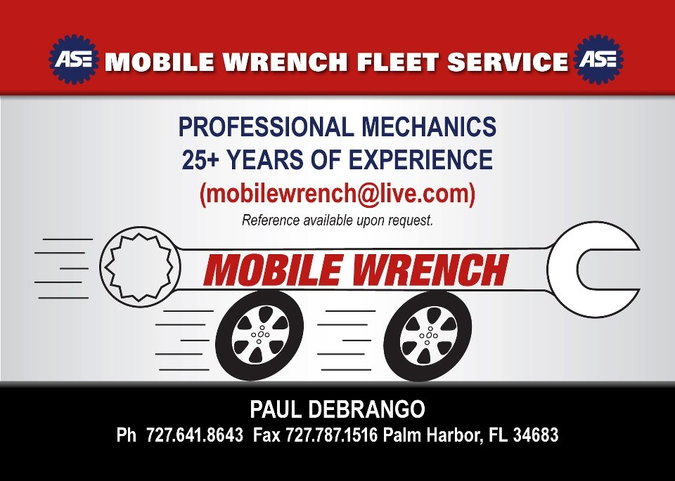 Mobile Wrench Inc. auto and truck repairs 727-641-8643