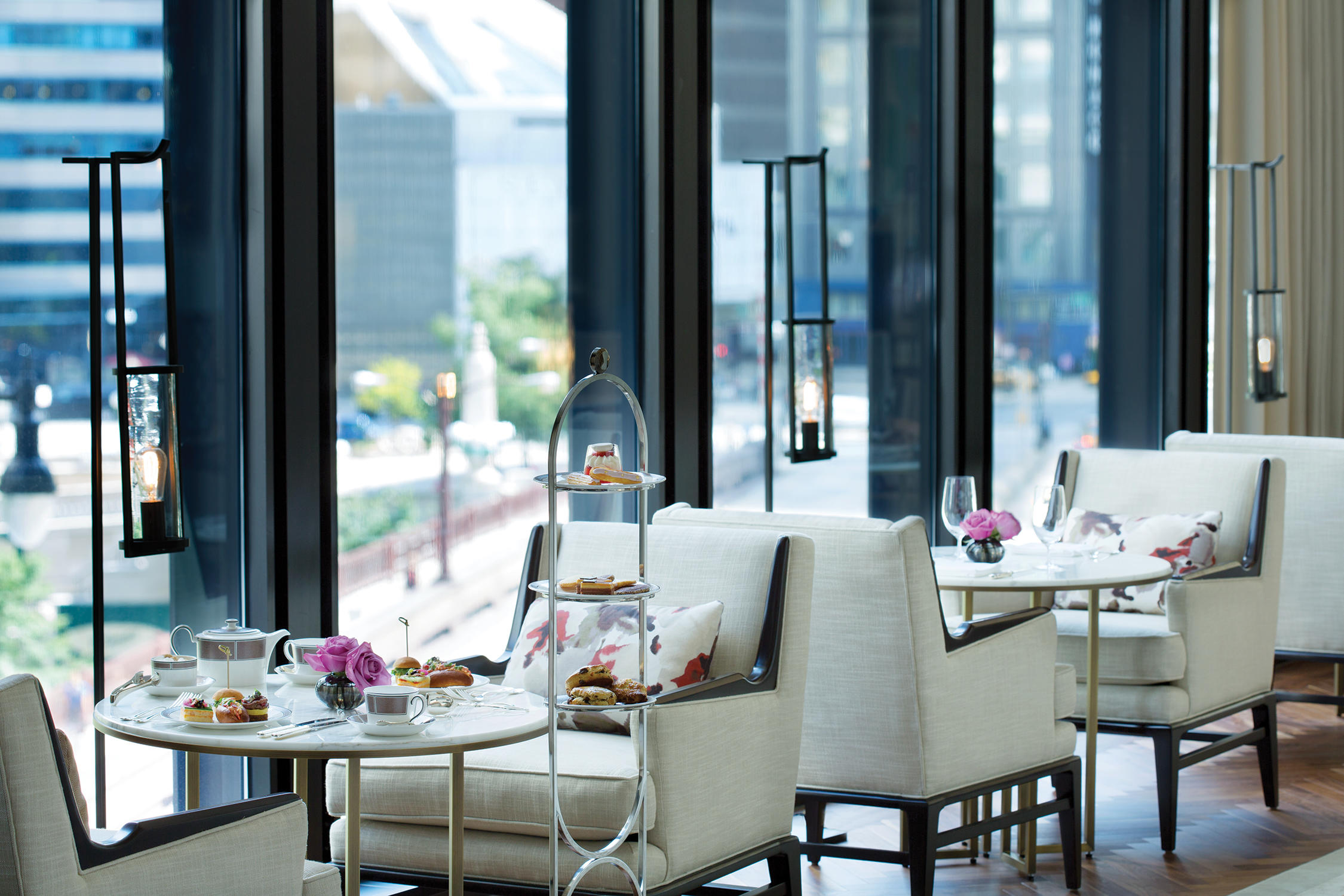 Pavilion at The Langham, Chicago -  Dining Room with view of the Chicago River