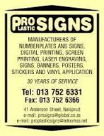 Pro Plastic Signs